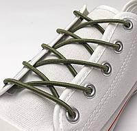 Шнурок резиновый круглый светлый-хаки 90см (Толщина 3 мм), фото 1