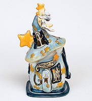 Арома- подсвечник  фарфоровый с росписью Домик Ночная Фея, 23 см.