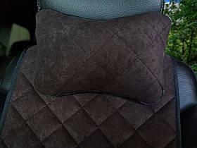 Автоподушка подголовник темно-коричневая