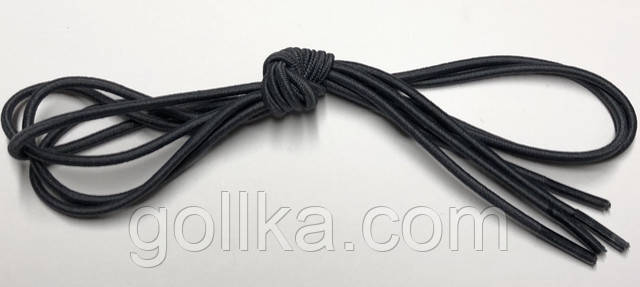 Шнурок резиновый круглый серый