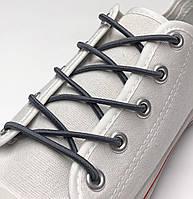 Шнурок резиновый круглый темно-серый 80см (Толщина 3 мм), фото 1