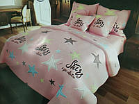 Розмір двоспальний постільної білизни бязь «Stars»
