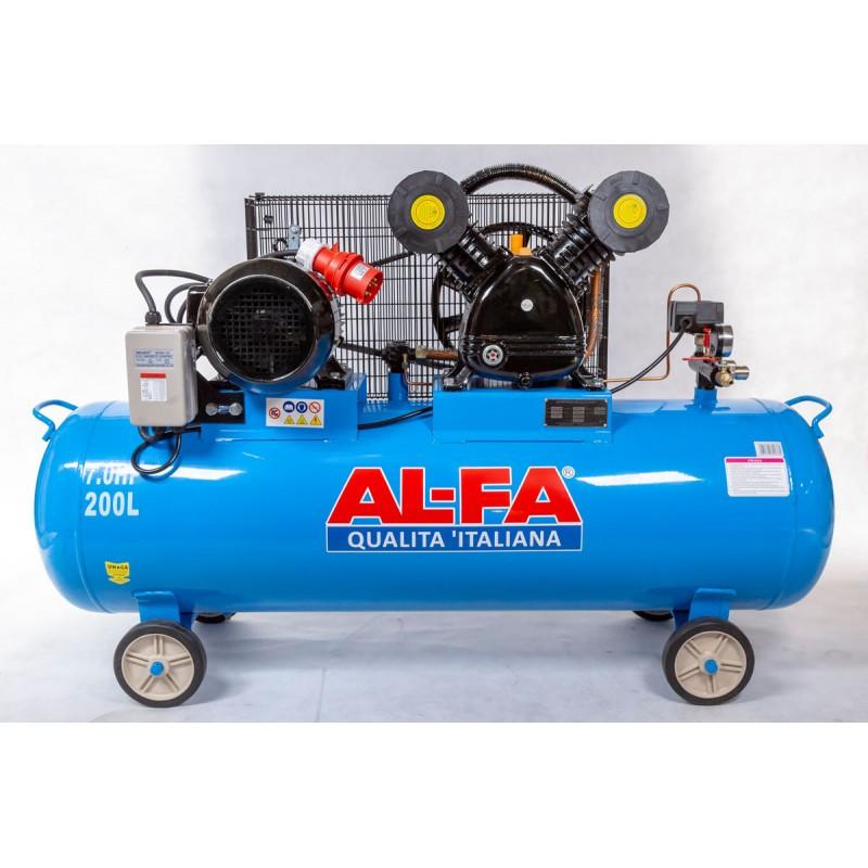 Компрессор AL-FA ALC220-2/400V (220 літрів) 2 поршні