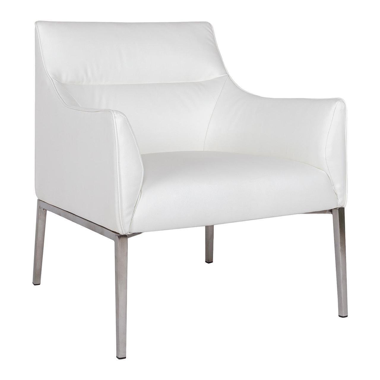 Лаунж - кресло Nicolas MERIDA 60х51х88 см белый