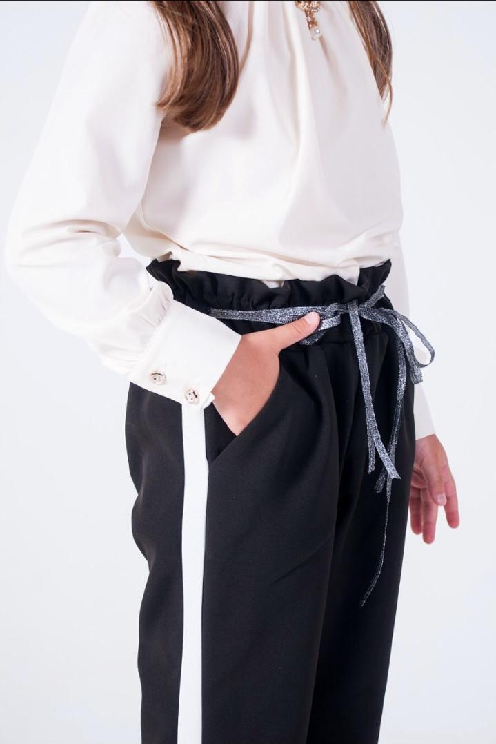Стильные детские брюки для девочки в школу 134-158