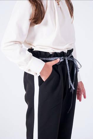Стильные детские брюки для девочки в школу 134-158, фото 2