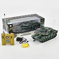 "Танк 99804 (12) р/у, ""Abrams М1А2"", аккум. 4.8V, свет, звук, в коробке"