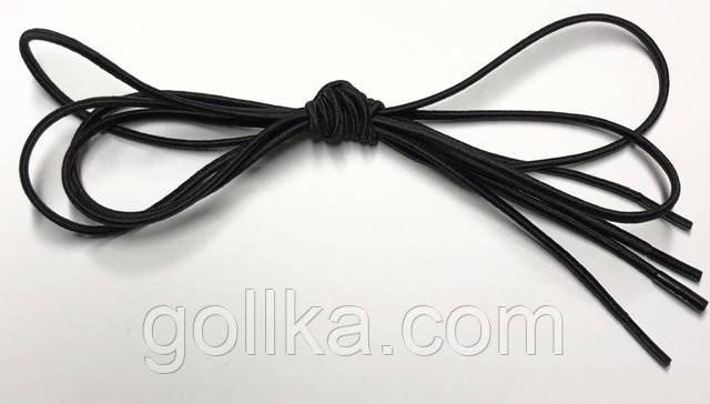 Шнурок круглый резиновый черный