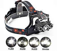 Налобный фонарь W602 + Авто зарядка