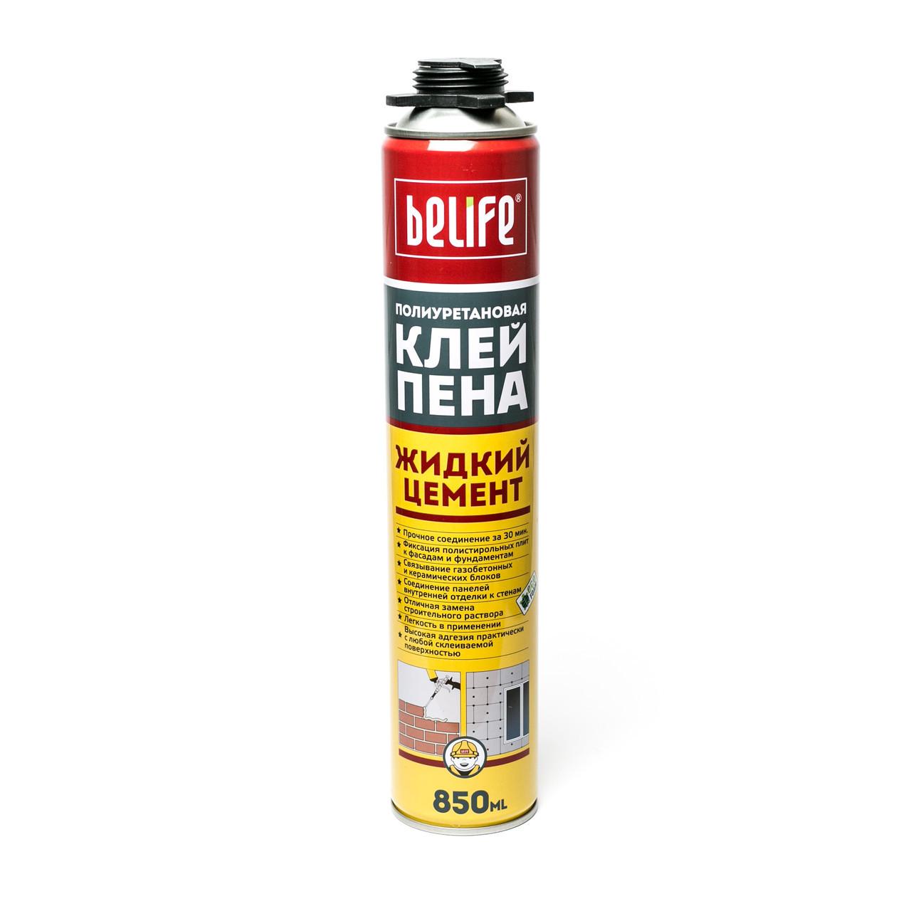 """Поліуретанова клей-піна для пінополістирольних плит ТМ """"Belife"""" 850 ml"""
