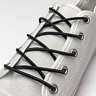 Шнурок резиновый круглый черный 80см (Толщина 3 мм), фото 1