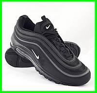 Мужские Кроссовки Nike Air Max 97 Чёрные Найк  (размеры: 41,42,44) Видео Обзор