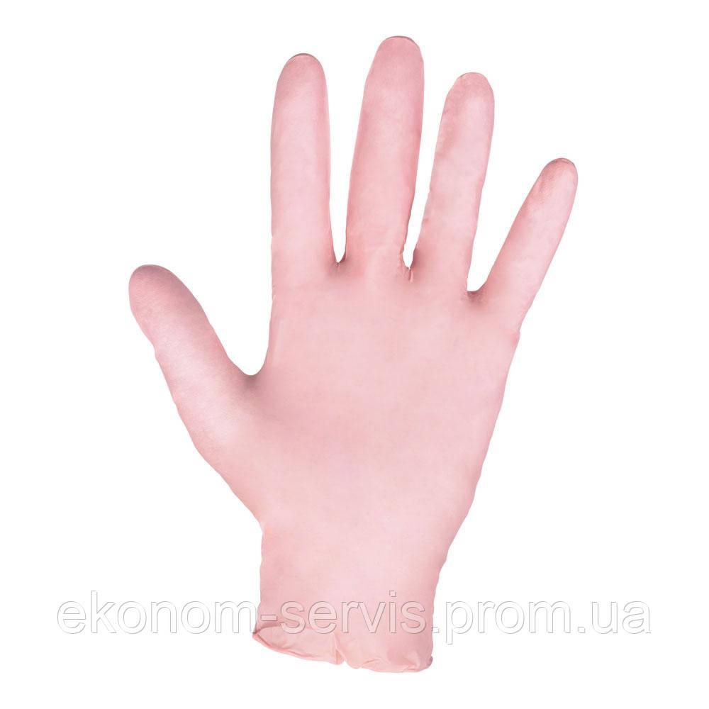 Перчатки нитриловые Mercator Medical 100 шт. розовые, L.