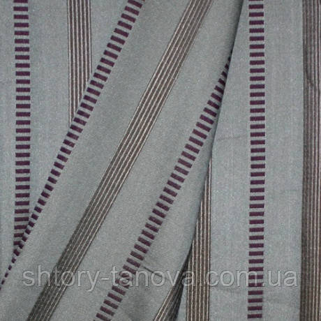 Декор равель полоса двухстор.бежево-фиолетовый