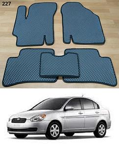 Коврики на Hyundai Accent 2006-2010. Автоковрики EVA