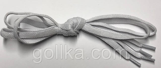 Шнурок резиновый плоский белый