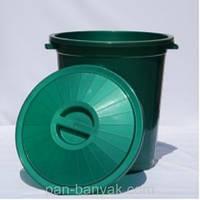 Бак хозяйственный с крышкой 50л d48 см h50 см полипропилен Al-Plastic