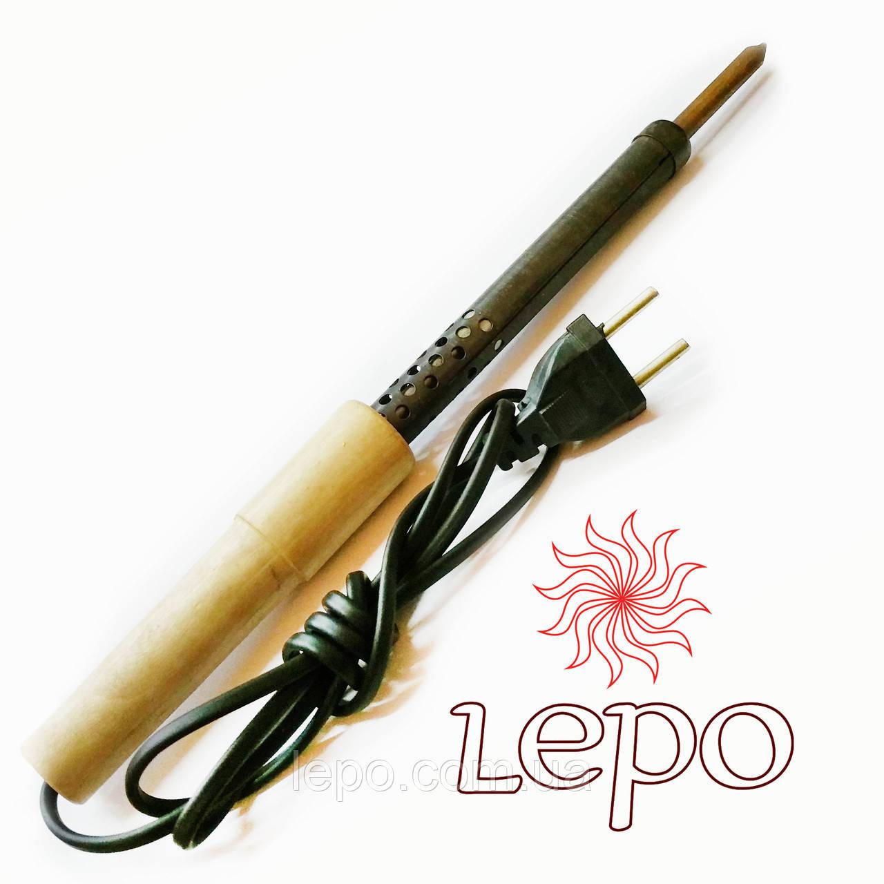 Паяльник 150 Вт ЭПСН 150/220 с деревянной ручкой, прямым жалом