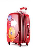 Ударопрочный малый чемодан Ambassador Classic A8503 Красный