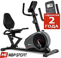 Горизонтальный велотренажер Hop-Sport HS-050L Hawk Gray/Red