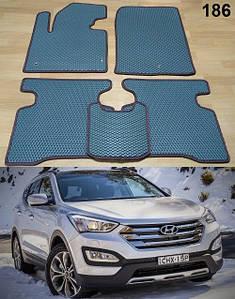Коврики на Hyundai Santa Fe 2013-2017 DM. Автоковрики EVA