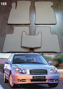 Коврики на Hyundai Sonata 2001-2005. Автоковрики EVA