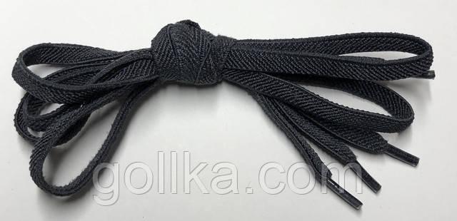 Шнурок плоский резиновый темно-серый