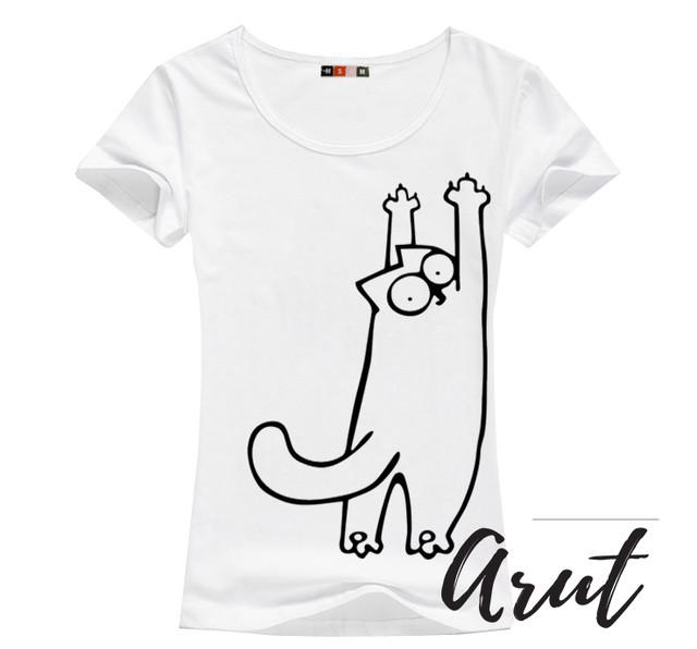 классная футболка с котом саймоном