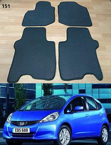 Коврики на Honda Jazz II 2009-2014. Автоковрики EVA