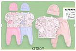 Байковий комплект для новонародженого. КП 209, фото 2