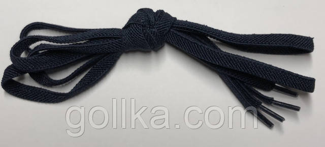 Шнурок резиновый плоский синий