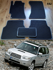 Коврики на Subaru Forester '03-08. Автоковрики EVA