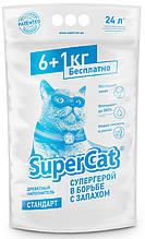 Наповнювач деревний Super Cat 6+1 кг (24 л) для туалетів для кішок