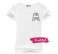 Женская стильная футболка Simon принт №1