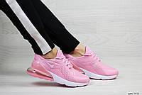 Весенние женские кроссовки Nike Air Max 270,сетка,розовые