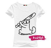 Женская стильная футболка Simon №9