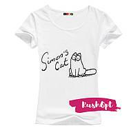 Женская стильная футболка Simon №10