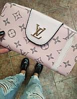 Кошелек Louis Vuitton на магните, кошельки ЛВ из заменителя, кошелек Луи Виттон унисекс, портмоне луи виттон, фото 1