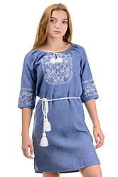 Платье вышиванка Лилия,  нарядное, ткань габардин р-р 42,44 вишиванка  сукня