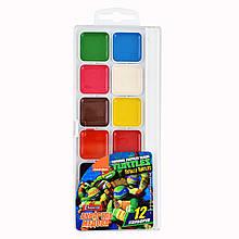 "Акварель 1Вересня ""Ninja Turtles"", 12 цв., б/к"