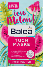 Тканинна зволожуюча маска Balea Tuchmaske Love Melon