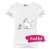 Женская стильная футболка Simon №13