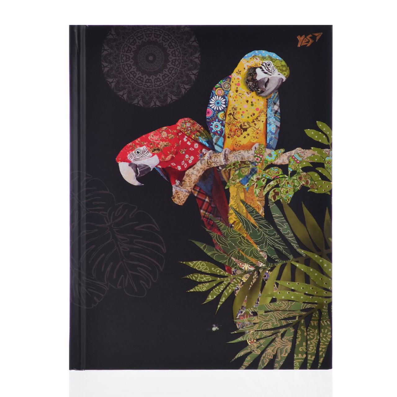 "Блокнот А5/96 КЛ. 7БЦ, фольга золото+Уф.выб. ""BugArt. Black parrot"" YES"