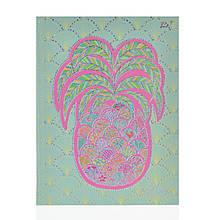"""Блокнот А5/64 ЛІН. 7БЦ, фольга голограф.срібло+УФ-виб. """"Turnowsky. Art pineapple"""" YES"""