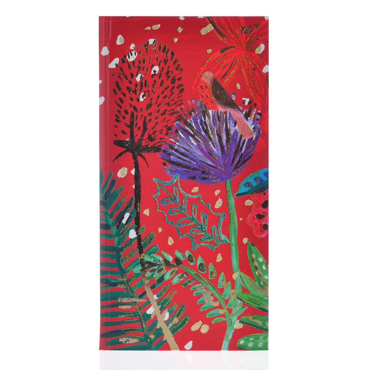 """Блокнот 100*200/64 КЛ. интег., фольга золото+глиттер золото """"Bon Cote. Red flower"""" YES"""
