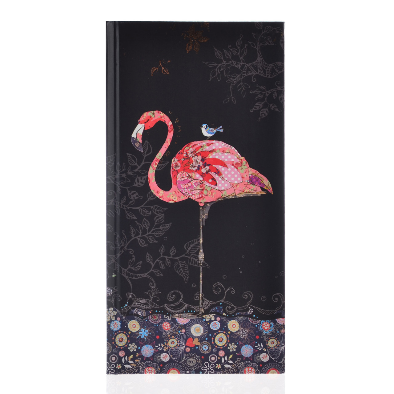 "Блокнот 100*200/64 КЛ. интег., фольга золото+Уф.выб. ""BugArt. Black flamingo"" YES"