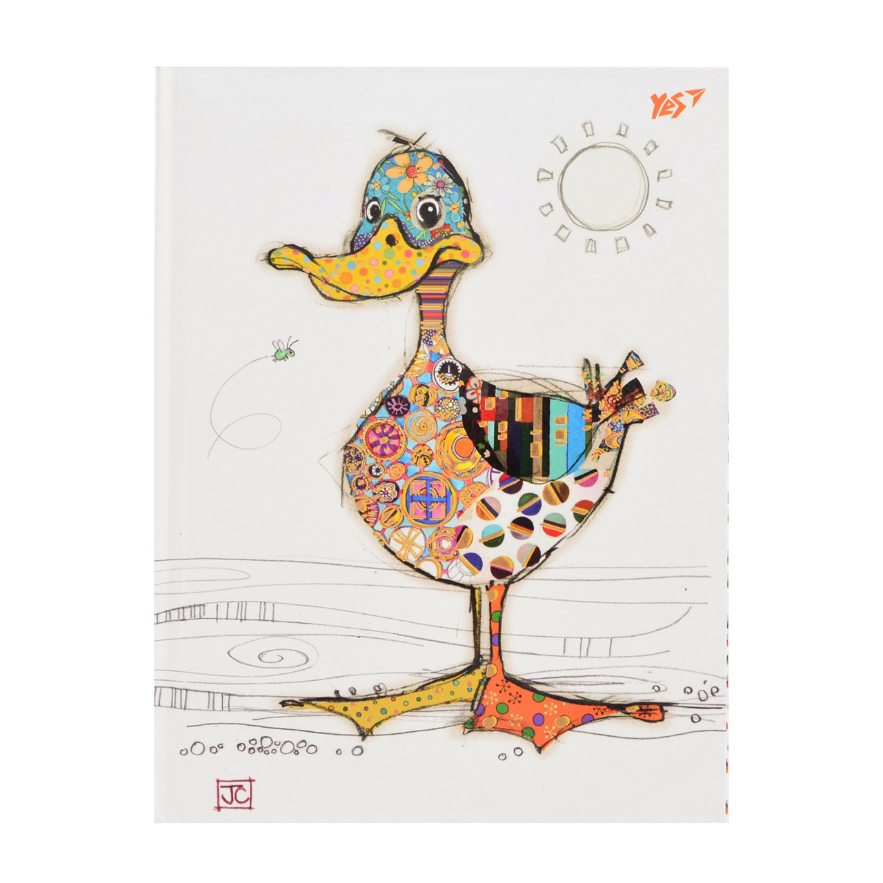 "Блокнот А5/64 КЛ. интег., фольга золото+Уф.выб. ""BugArt. White duck"" YES"