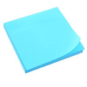 Бумага с липким слоем 75х 75мм неон. син., 80л L1211-04                                   , фото 2