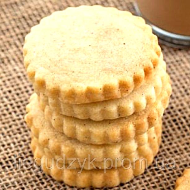 Печиво лимонно-пісочне для брендування та декорування [коло з рифленим краєм]
