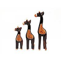 Статуэтка деревянная Жирафы 3 шт